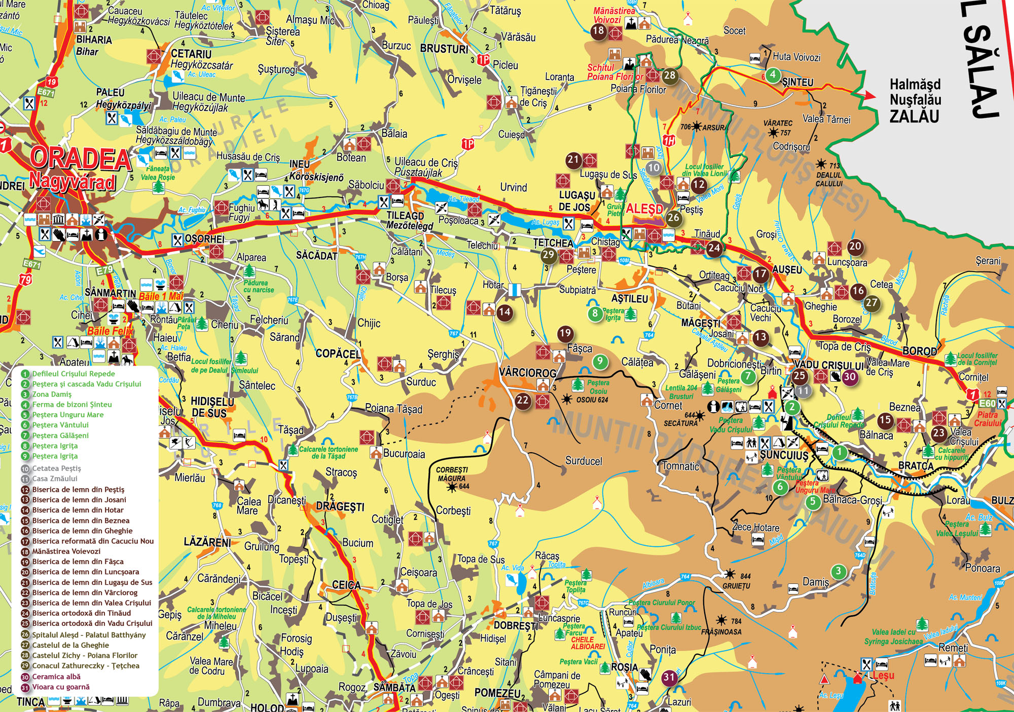 Harta Turistica Primaria Alesd
